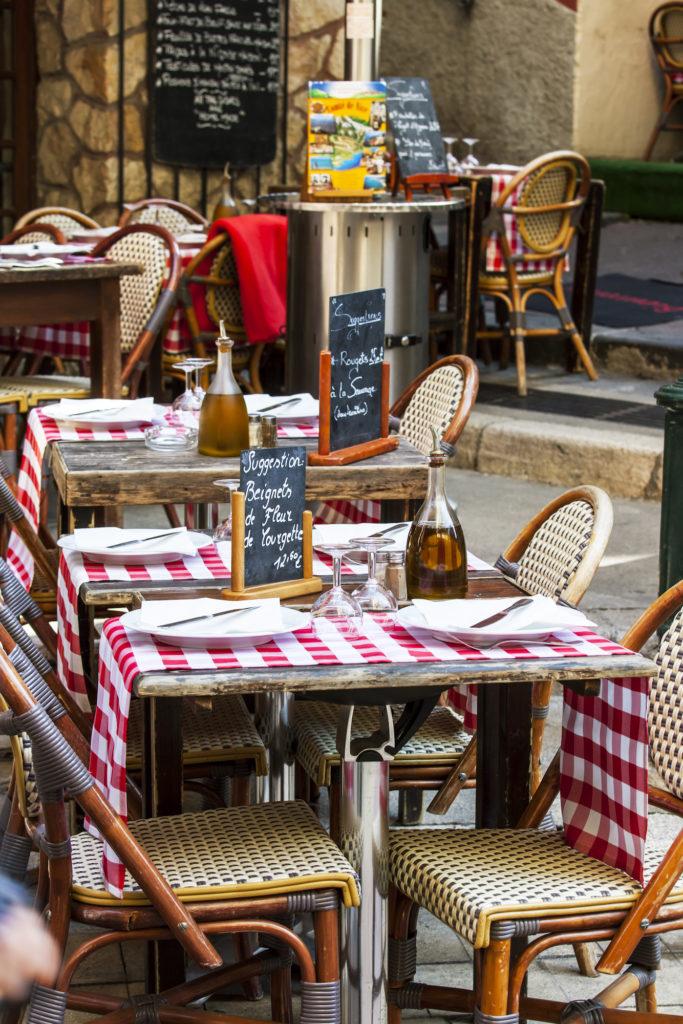 terrasse d'un restaurant