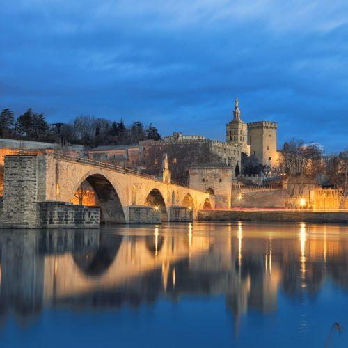 Pont d'Avignon de nuit