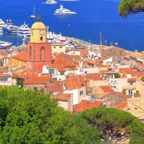 Vue du haut de Saint-Tropez